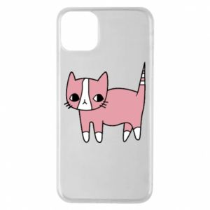 Phone case for iPhone 11 Pro Max Cat with leaves