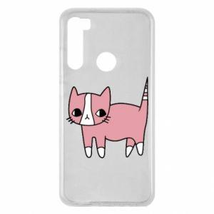 Etui na Xiaomi Redmi Note 8 Cat with leaves