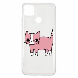Etui na Xiaomi Redmi 9c Cat with leaves