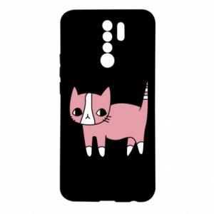 Etui na Xiaomi Redmi 9 Cat with leaves