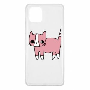 Etui na Samsung Note 10 Lite Cat with leaves