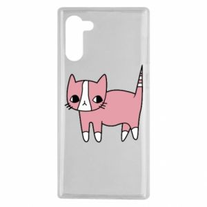 Etui na Samsung Note 10 Cat with leaves