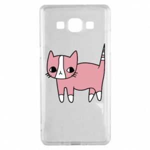 Etui na Samsung A5 2015 Cat with leaves