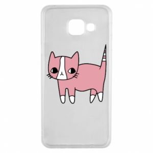 Etui na Samsung A3 2016 Cat with leaves