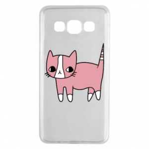 Etui na Samsung A3 2015 Cat with leaves
