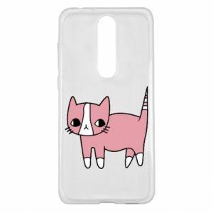 Etui na Nokia 5.1 Plus Cat with leaves