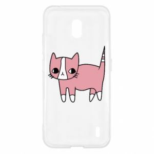Etui na Nokia 2.2 Cat with leaves