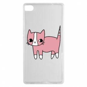 Etui na Huawei P8 Cat with leaves