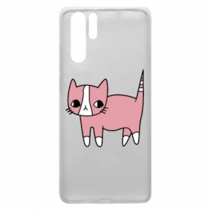 Etui na Huawei P30 Pro Cat with leaves