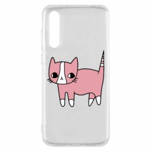 Etui na Huawei P20 Pro Cat with leaves