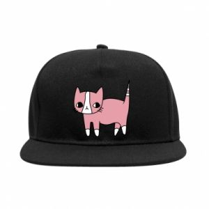 SnapBack Cat with leaves