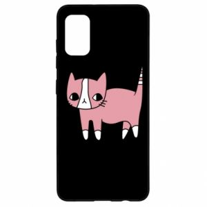 Etui na Samsung A41 Cat with leaves