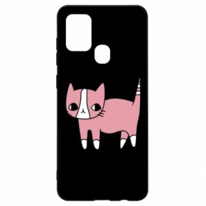 Etui na Samsung A21s Cat with leaves