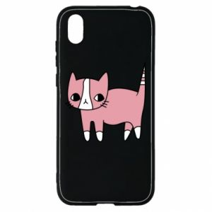 Etui na Huawei Y5 2019 Cat with leaves