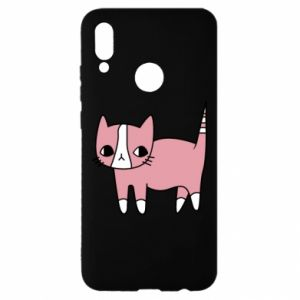 Etui na Huawei P Smart 2019 Cat with leaves