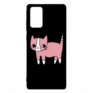 Etui na Samsung Note 20 Cat with leaves