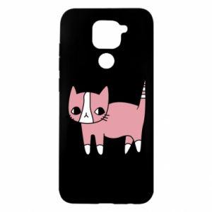 Etui na Xiaomi Redmi Note 9/Redmi 10X Cat with leaves
