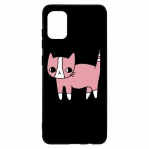 Etui na Samsung A31 Cat with leaves