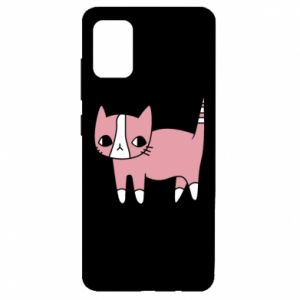 Etui na Samsung A51 Cat with leaves