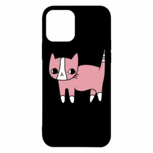Etui na iPhone 12/12 Pro Cat with leaves