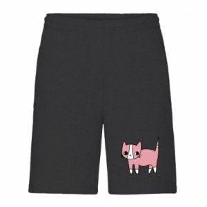 Men's shorts Cat with leaves