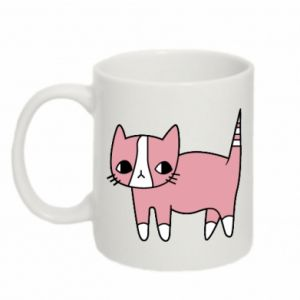 Kubek 330ml Cat with leaves