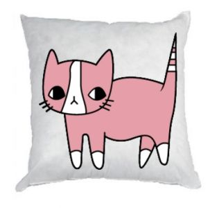 Pillow Cat with leaves
