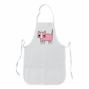 Apron Cat with leaves