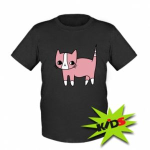 Kids T-shirt Cat with leaves