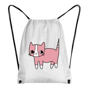 Backpack-bag Cat with leaves