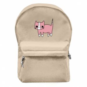 Backpack with front pocket Cat with leaves