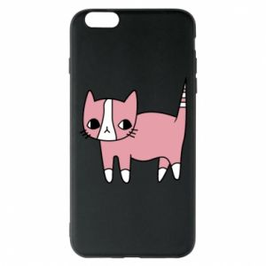 Phone case for iPhone 6 Plus/6S Plus Cat with leaves