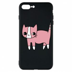 Phone case for iPhone 7 Plus Cat with leaves