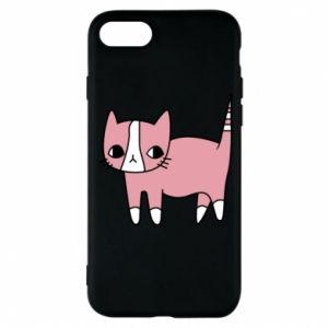 Phone case for iPhone 8 Cat with leaves