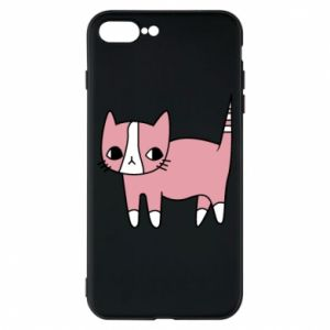 Phone case for iPhone 8 Plus Cat with leaves