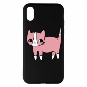 Phone case for iPhone X/Xs Cat with leaves