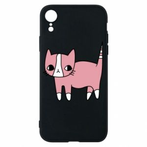 Phone case for iPhone XR Cat with leaves