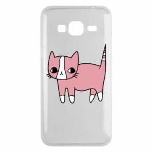 Phone case for Samsung J3 2016 Cat with leaves