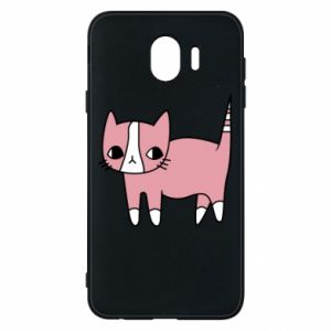 Phone case for Samsung J4 Cat with leaves