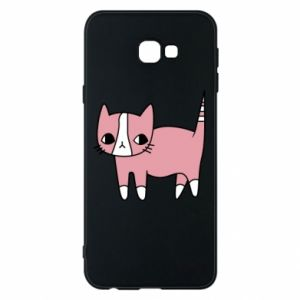 Phone case for Samsung J4 Plus 2018 Cat with leaves