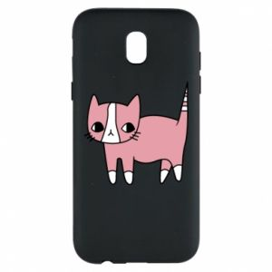 Phone case for Samsung J5 2017 Cat with leaves