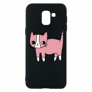 Phone case for Samsung J6 Cat with leaves