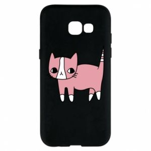 Phone case for Samsung A5 2017 Cat with leaves