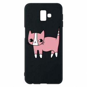 Phone case for Samsung J6 Plus 2018 Cat with leaves