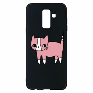 Phone case for Samsung A6+ 2018 Cat with leaves