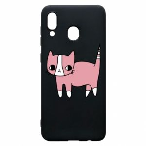 Phone case for Samsung A20 Cat with leaves