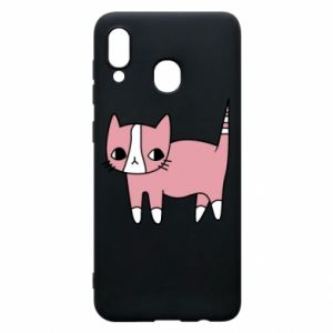 Phone case for Samsung A30 Cat with leaves