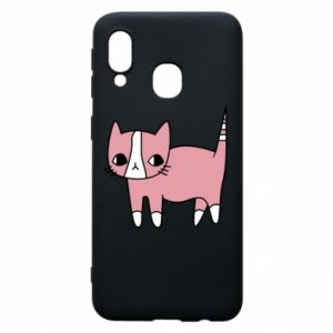 Phone case for Samsung A40 Cat with leaves