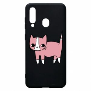 Phone case for Samsung A60 Cat with leaves