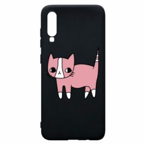 Phone case for Samsung A70 Cat with leaves